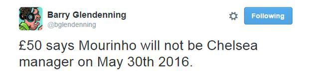 Barry Glendenning Tweet