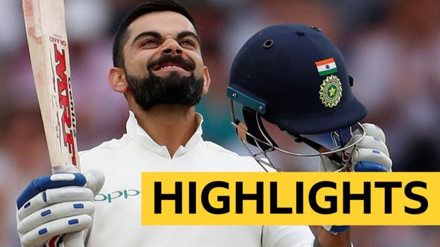 England v India: Virat Kohli hits century as Joe Root's men struggle on day three