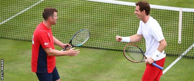 Leon Smith and Andy Murray