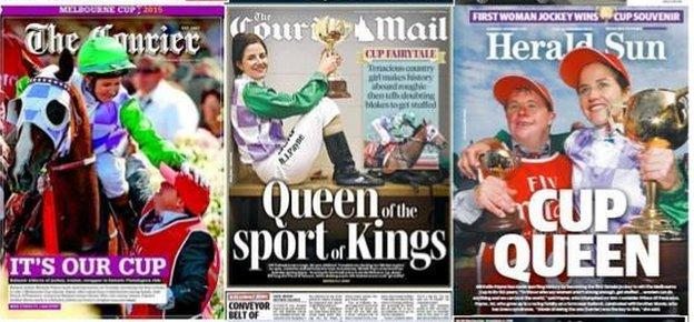 How Australia newspapers covered Michelle Payne's Melbourne Cup win