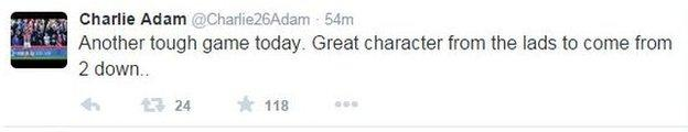 Charlie Adam tweet