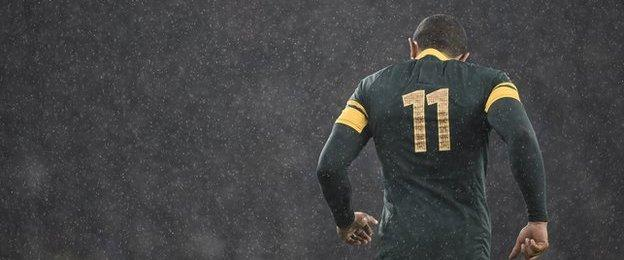 South Africa's Bryan Habana trudges off field after semi-final defeat by New Zealand