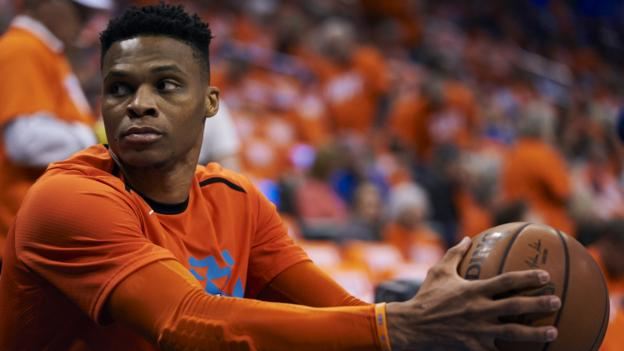 Russell Westbrook joins Houston Rockets from Oklahoma City Thunder thumbnail