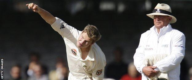 Steve Smith on his Test debut