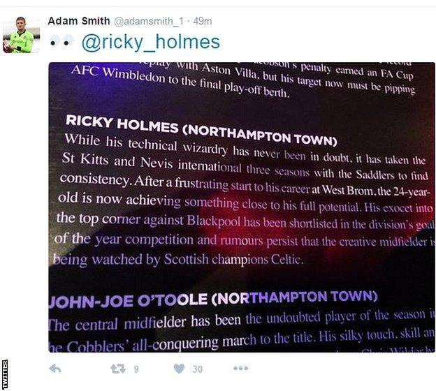 Adam Smith's Tweet