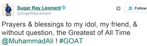 Sugar Ray Leonard tweet