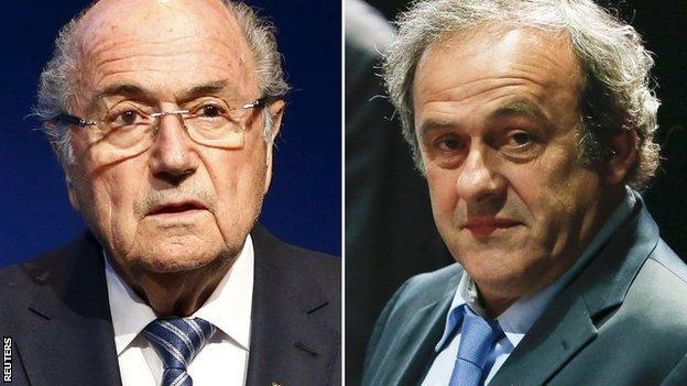 Sepp Blatter (left) and Michel Platini