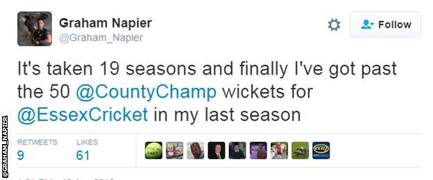 Graham Napier tweet