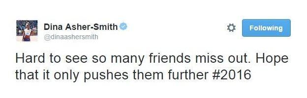 """Dina Asher-Smith also tweeted to thank British Athletics and say she """"can't wait"""" for Beijing"""