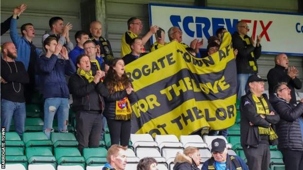 Harrogate Town had seven season ticket holders in 2011-12. Last season they had a crowd of 2,584 against Leyton Orient