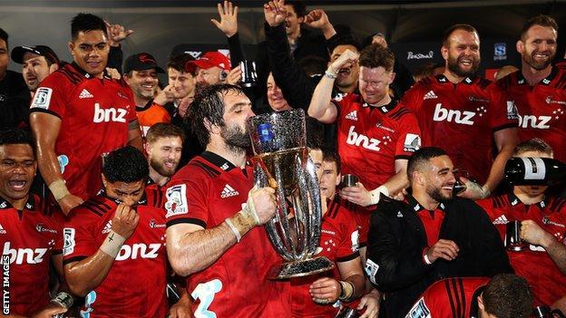 Crusaders celebrate 2018 Super Rugby title