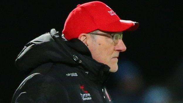 Mickey Harte's Tyrone side face Kildare in Newbridge on Sunday