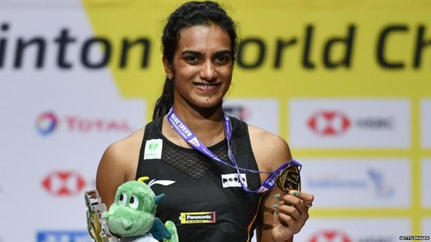 India's PV Sindhu won the women's singles title at the 2019 World Championships in Switzerland