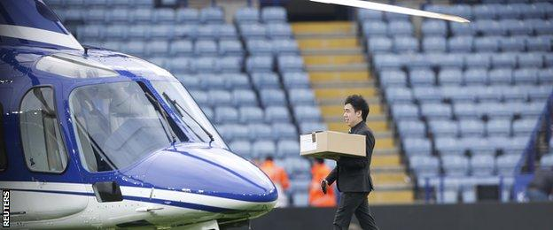 Doughnuts are taken aboard helicopter carrying Leicester City chairman Vichai Srivaddhanaprabha