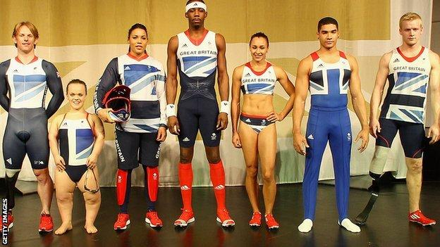 Olympic and Paralympic athletes model the Stella McCartney-designed kit for London 2012