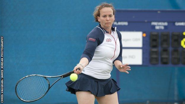 Valerie Copenhagen, Team GB deaf tennis player