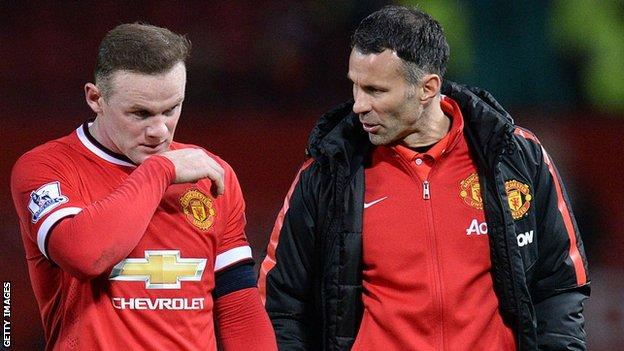 Former Manchester United players Wayne Rooney and Ryan Giggs