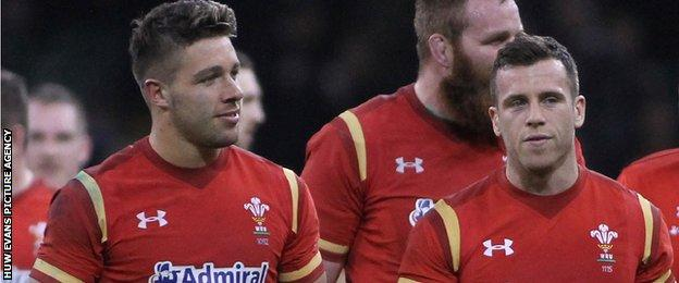 Rhys Webb and Gareth Davies