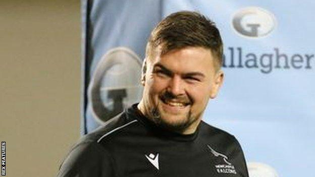 Mark Tamplin has made 17 first team appearances for Newcastle Falcons this season