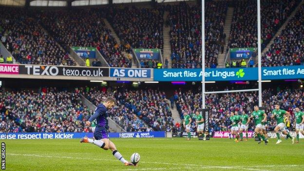 Only Chris Paterson (809) has more points for Scotland than Laidlaw's 714