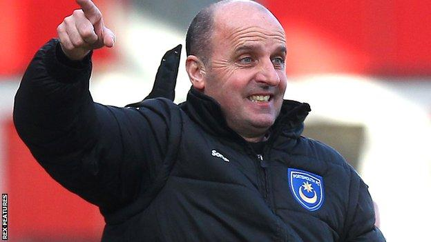Portsmouth manager Paul Cook