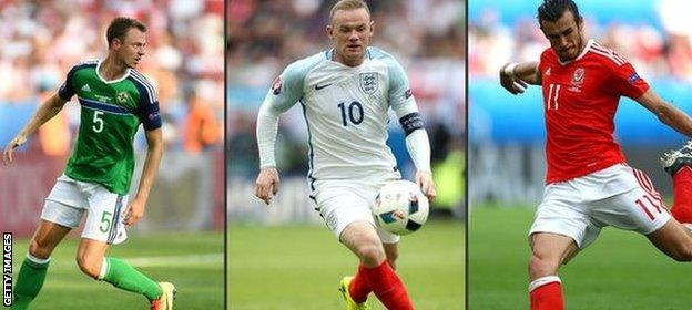 Evans, Rooney and Bale