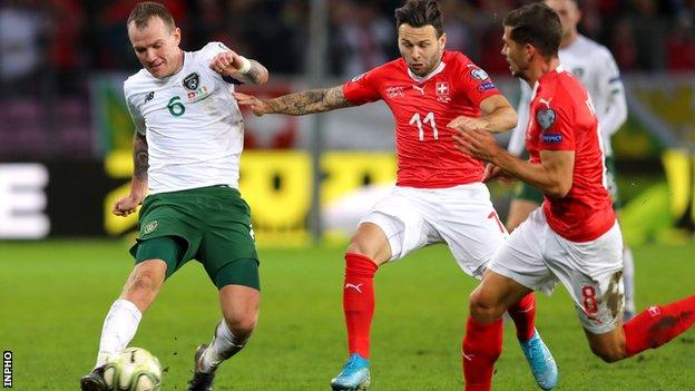 Glenn Whelan in action against Switzerland last month