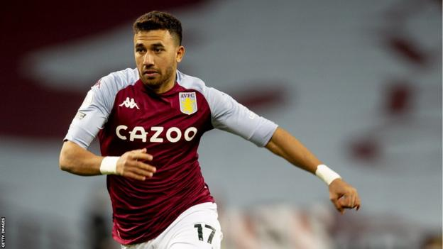 Egypt's Trezeguet in action for Aston Villa