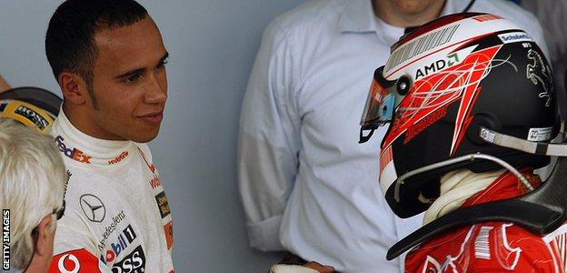 British F1 driver Lewis Hamilton finishes second in the 2007 World Championship