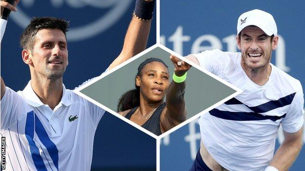 Us Open 2020 Preview Serena Williams Andy Murray Novak Djokovic Head Grand Slam Return Bbc Sport