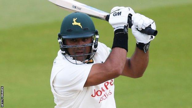 Samit Patel bats for Nottinghamshire