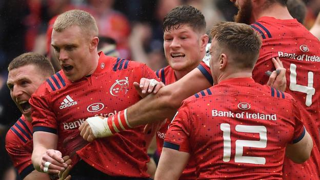 European Champions Cup: Edinburgh 13-17 Munster - visitors come from behind to reach semi-finals thumbnail