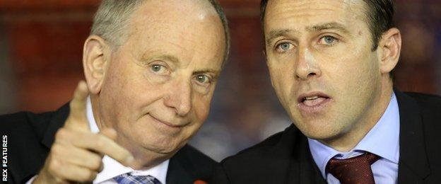 Lennie Lawrence (left) and Dougie Freedman