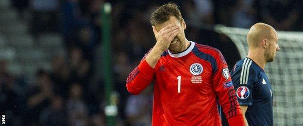 Scotland goalkeeper David Marshall
