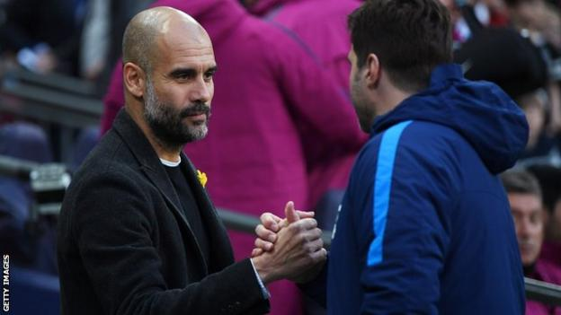 Pep Guardiola and Mauricio Pochettino
