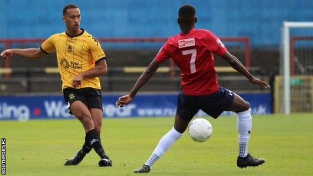 Southport midfielder Russell Benjamin