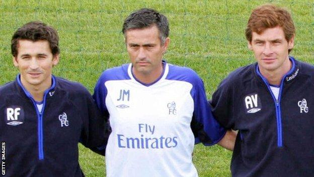 Jose Mourinho, Rui Faria and Andre Villas Boas join Chelsea
