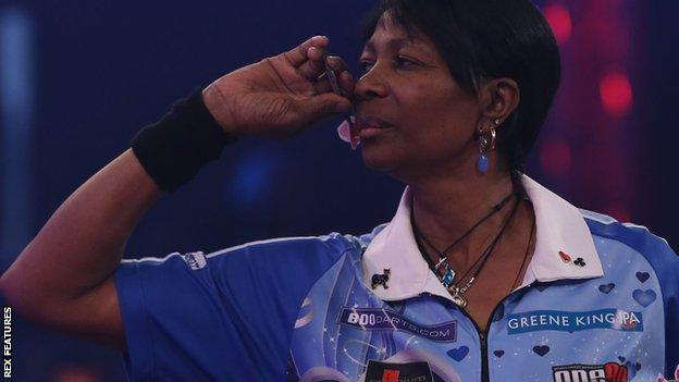 Deta Hedman at the BDO World Championship
