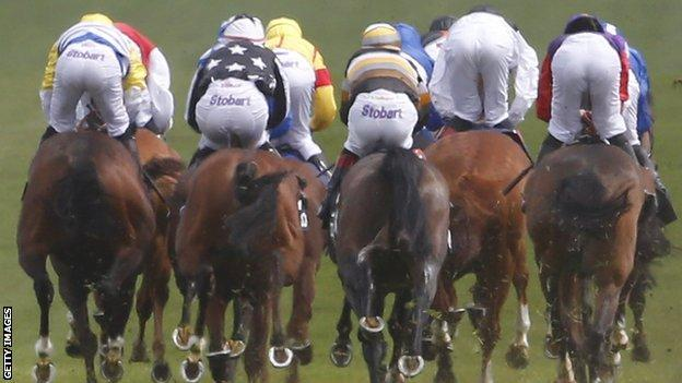 Runners in a horse race