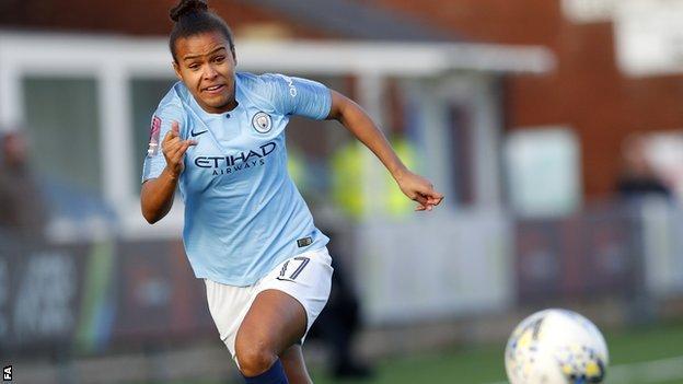 Manchester City player Nikita Parris