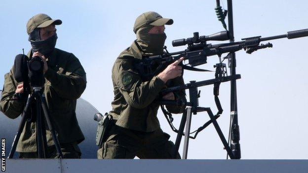 Russian Federal Guard Service's snipers