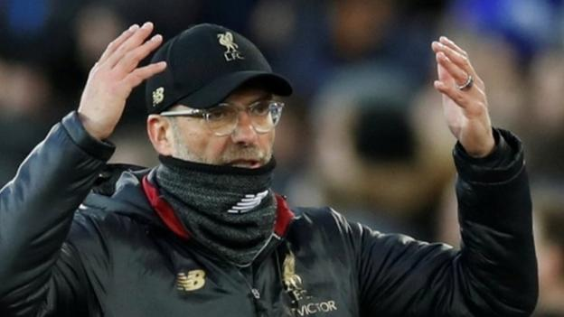 Jurgen Klopp: Liverpool boss 'completely fine' chasing Manchester City for title thumbnail