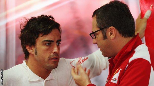 Fernando Alonso and Stefano Domenicali 2010