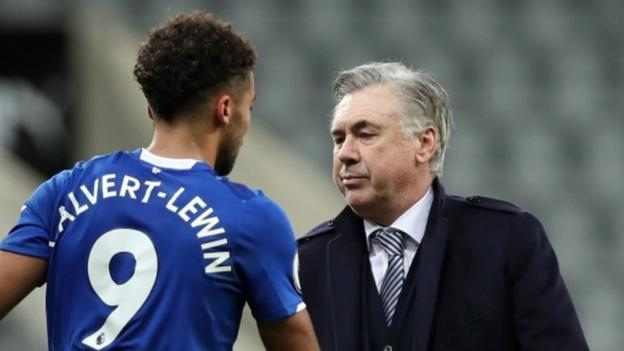 Dominic Calvert-Lewin: Playing for Everton manager Carlo Ancelotti a