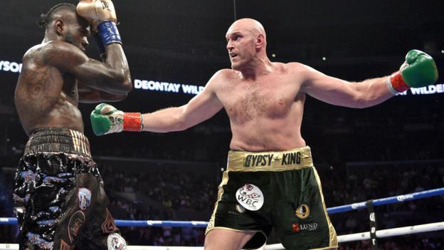 Tyson Fury says 'world knows real champion' after Deontay Wilder
