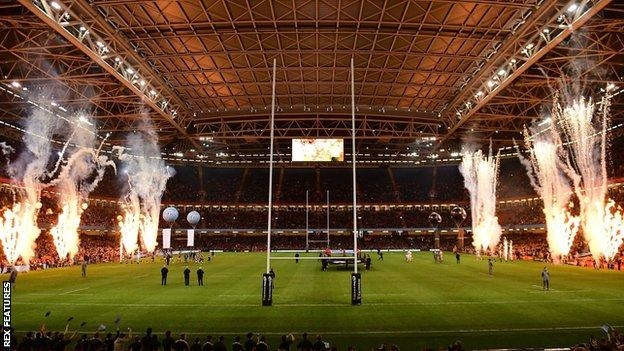 The 74,500-capacity Principality Stadium is in the heart of Cardiff