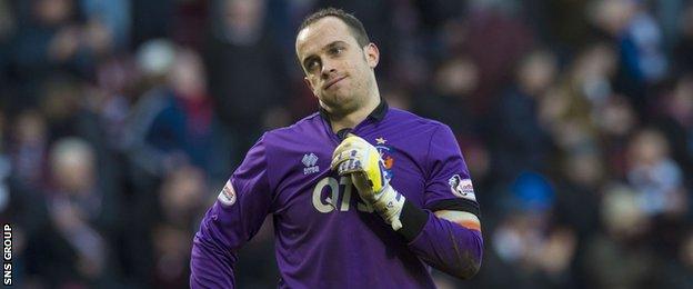 Kilmarnock goalkeeper Jamie MacDonald