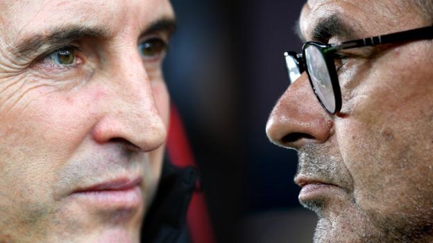 Europa League final: Unai Emery & Maurizio Sarri head to head thumbnail