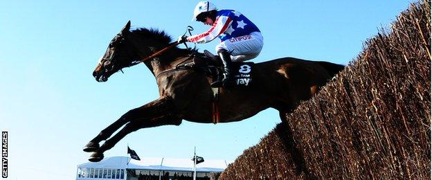 Special Tiara competes in the Queen Mother Champion Chase at Ladies Day