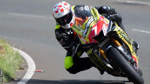 Pierre-Yves Bian at the Manx Grand Prix